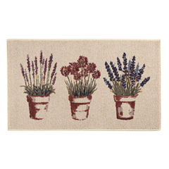 Brumlow Flower Pots Printed Rectangular Rugs