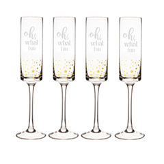 Cathy's Concepts Oh What Fun 4-pc. Champagne Flutes