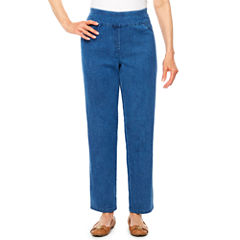 Alfred Dunner Indigo Girls Denim Flat Front Pants