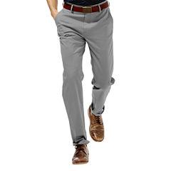 Haggar® Straight-Fit Flat-Front Performance Cotton Slacks