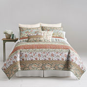 Home Expressions™ Jacobean Striped Quilt