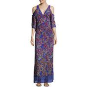 nicole by Nicole Miller® Cold-Shoulder Bohemian Maxi Dress