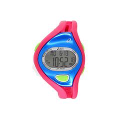 Asics Pink/Blue Ar05 Runner Womens Multicolor Strap Watch-Cqar0510y