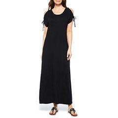 St. John's Bay Short Sleeve Maxi Dress