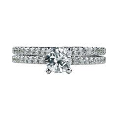 Womens 2 CT. T.W. White Diamond 14K Gold Bridal Set