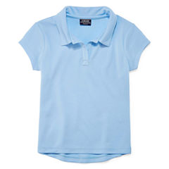Izod Exclusive Short Sleeve Pique Polo Shirt - Preschool Girls
