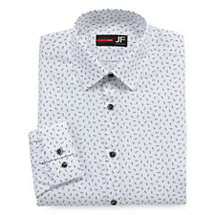 J.Ferrar Easy-Care Stretch Long Sleeve Dress Shirt