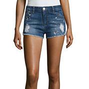 Almost Famous Paint  Splatter Denim Shorts-Juniors