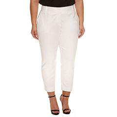 Worthington Slim Fit Ankle Pants-Plus