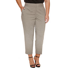 Worthington Slim Fit Ankle Pants-Plus