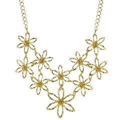 1928® Jewelry Gold-Tone Flower Bib Necklace