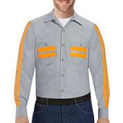 Red Kap® Long-Sleeve Enhanced Visibility Work Shirt