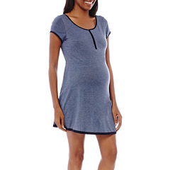 Spencer Maternity Short-Sleeve Nursing Nightshirt