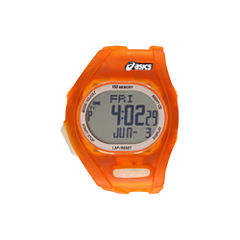 Asics Ar08 Night Run Unisex Orange Strap Watch-Cqar0803y