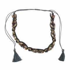 Jardin Womens Gray Brass Choker Necklace