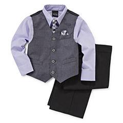 4-pc. Dress Shirt, Tie, Vest and Pants Set - Boys 4-10