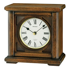 Seiko® Brown Desk/Table Clock With 12 Hi-Fi Melodies And Chime Qxw237blh