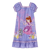 Disney Collection Sofia Short-Sleeve Nightshirt - Girls 2-8