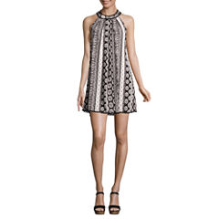 Trixxi Sleeveless A-Line Dress-Juniors