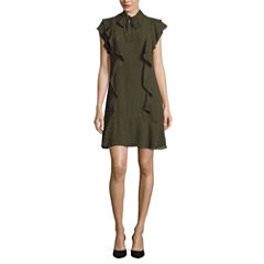 Worthington Short Sleeve Fit & Flare Dress