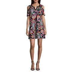 Alyx Short Sleeve Shift Dress-Petites