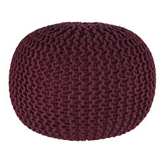 Signature Design by Ashley Nils Solid Pouf Ottoman