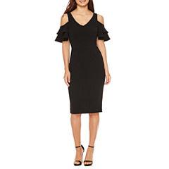 Nicole By Nicole Miller Short Sleeve Bodycon Dress