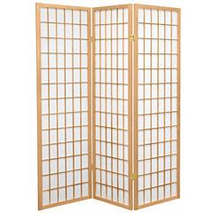 Oriental Furniture 5 Ft Tall Window Pane Shoji Screen Room Divider