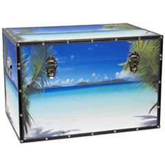Oriental Furniture Ocean Beach Storage Trunk