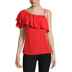 Worthington Short Sleeve Georgette Blouse