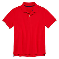 Arizona Short Sleeve Solid Polo Shirt - Boys 8-20 Husky