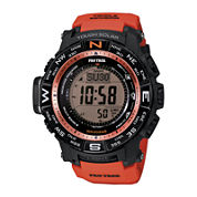 Casio® Pro Trek Triple Sensor Mens Orange Resin Solar Sport Watch PRW3500Y-4