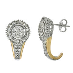 diamond blossom 1CT. T.W. Diamond 10K Yellow Gold Earrings