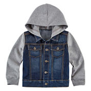 Arizona Long-Sleeve Denim Hoodie - Toddler Boys 2t-5t