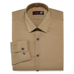JF J. Ferrar® Easy-Care Solid Dress Shirt - Slim Fit