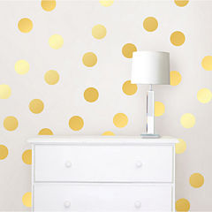 WallPops Gold Confetti Dots- Set of 128