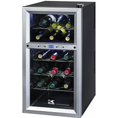 Kalorik 18-Bottle Dual-Temp Wine Cooler