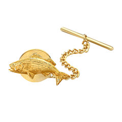 Fish Gold-Plated Tie Tack