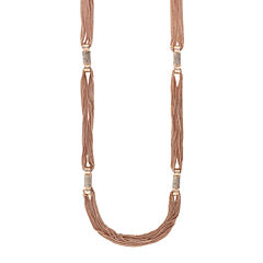 nicole by Nicole Miller® Rose-Tone Layered Necklace