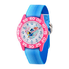 Disney Collection Girls Blue & Pink Numbered Bezel Finding Dory Strap Watch