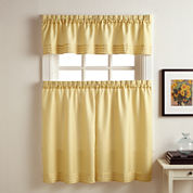 Kylie Rod-Pocket Kitchen Curtains