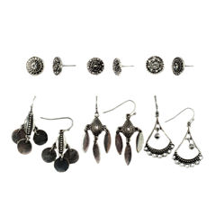 Decree 12-pc. White Earring Sets