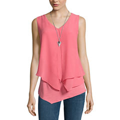 Alyx Sleeveless Necklace Popover Top