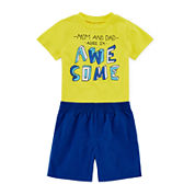 Okie Dokie® Short-Sleeve Attitude Tee or Shorts - Baby Boys newborn-24m