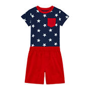 Okie Dokie® Short-Sleeve Tee or Basic Shorts - Baby Boys newborn-24m
