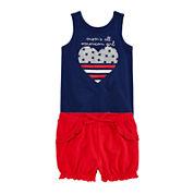 Okie Dokie® Americana Tank Top or Americana Shorts - Baby Girls newborn-24m