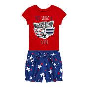 Okie Dokie® Americana Tee or Americana Shorts - Baby Girls newborn-24m