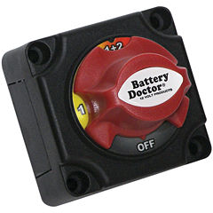 Battery Doctor 20393 Mini Master Disconnect Switch(Dual Battery; 4 Position)