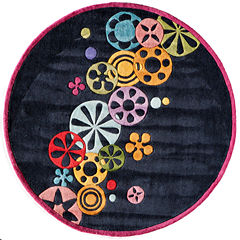 Momeni Lil Mo Modern Sprinkle Hand Tufted Round Rugs