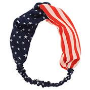 Capelli of New York Patriotic Twist-Front Head Wrap